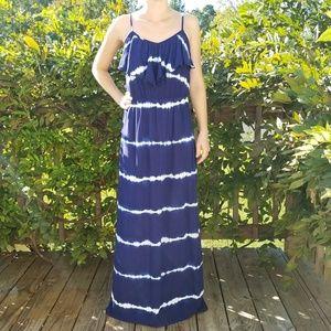 IZ byer striped tie dye maxi dress